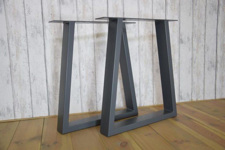 Stalen tafelpoten kleur grijs